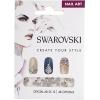 Swarovski Nail Art Crystals SS12 Crystal Aurora Borealis 48pcs